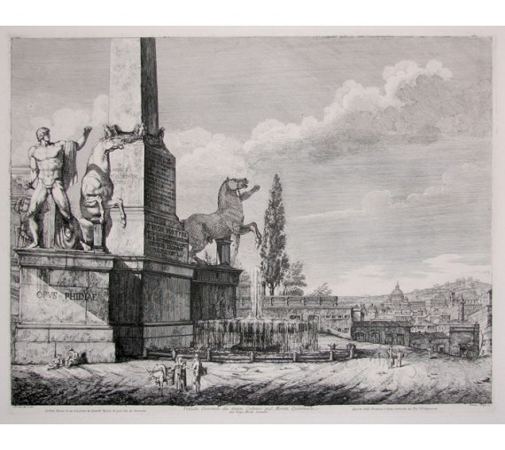 Quirinal Hill Rome Rossini etching