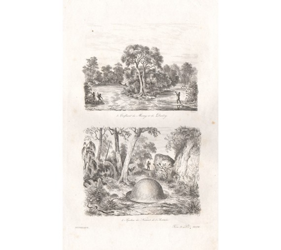 Murray Darling Tomb Natives Australia engraving de Sainson