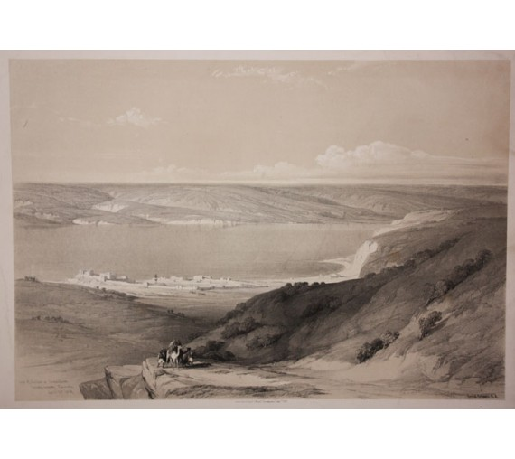 Sea Tiberias David Roberts lithograph Holy Land