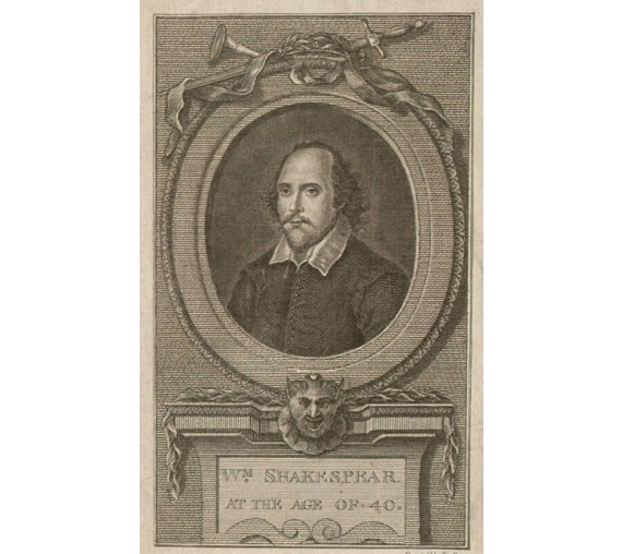William Shakespeare portrait engraving print dramatist