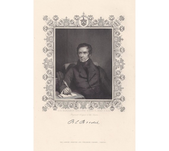 Benjamin Collins Brodie portrait engraving doctor physician