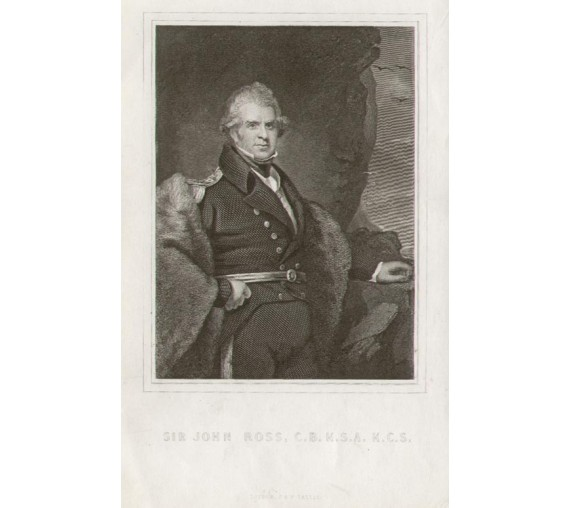 Sir John Ross portrait engraving print
