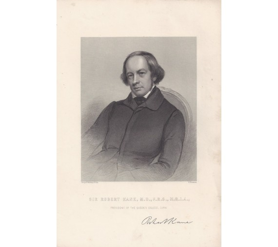 Robert Kane portrait engraving Irish chemist