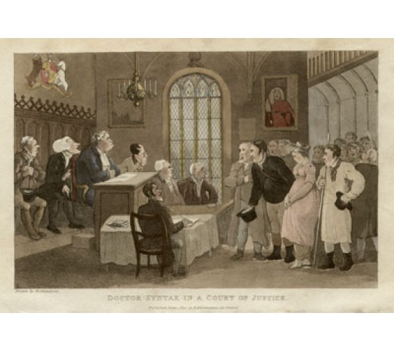 dr syntax court aquatint thomas rowlandson legal