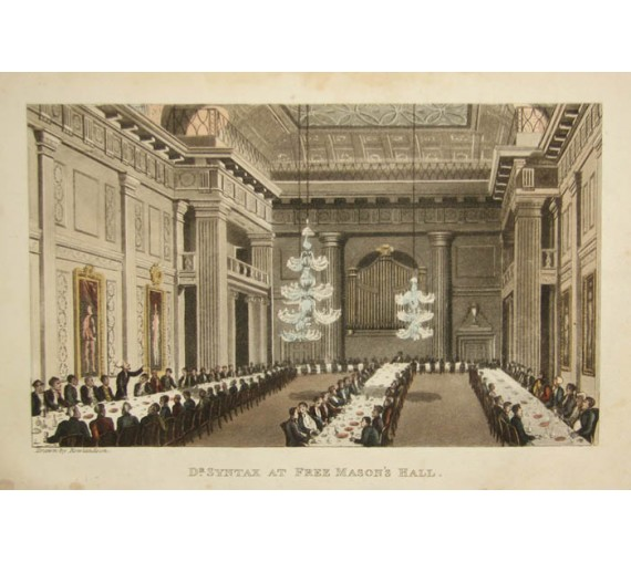 freemason hall freemasonry dr syntax thomas rowlandson aquatint ackermann
