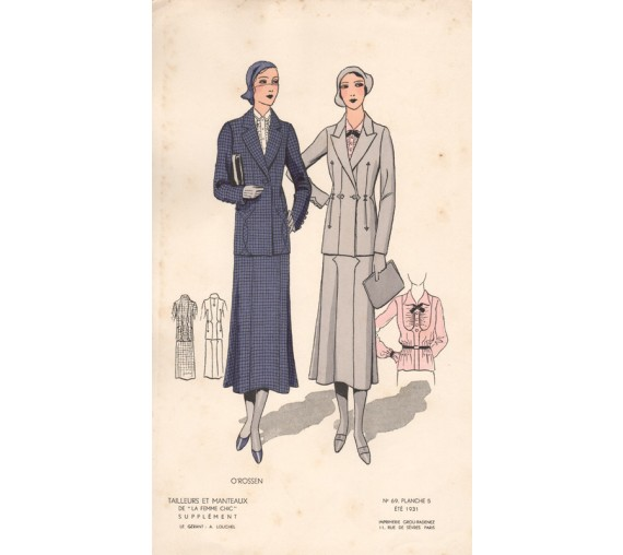 french 1930s fashion design femme chic