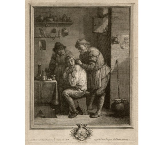 The Surgeon David Teniers engraving medical