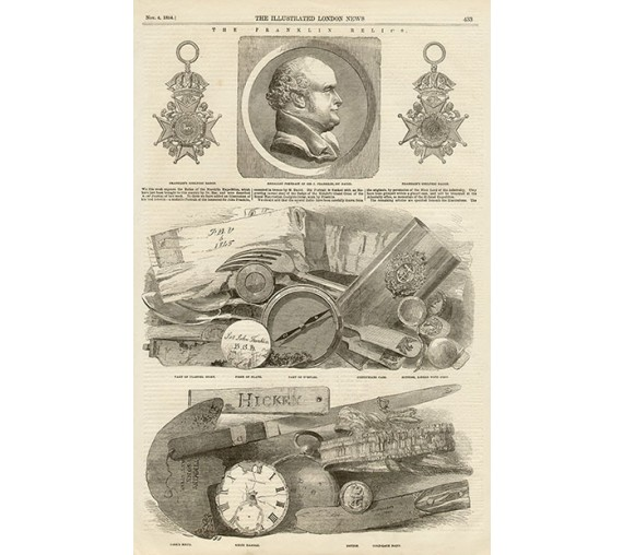 Franklin Relics engraving Illustrated London News 1854