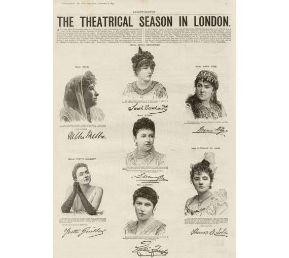 Melba Theatrical Season London engraving 1894