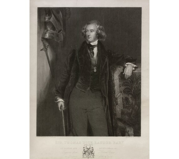 Thomas Dick Lauder portrait engraving print