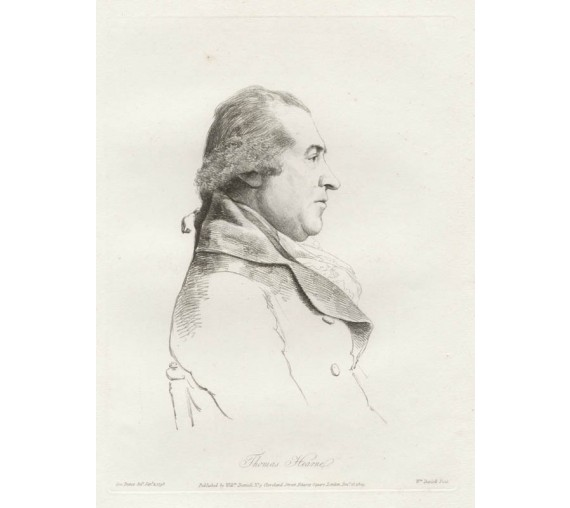Thomas Hearne portrait engraving Dance Daniell