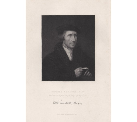 Thomas Linacre portrait engraving doctor physician Oxford