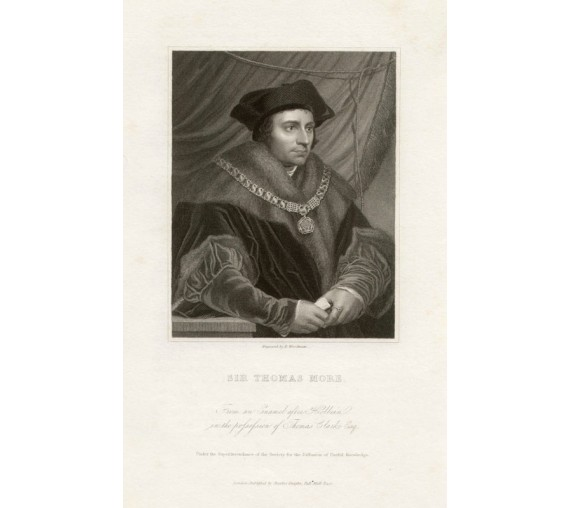 Thomas More portrait engraving humanist Holbein