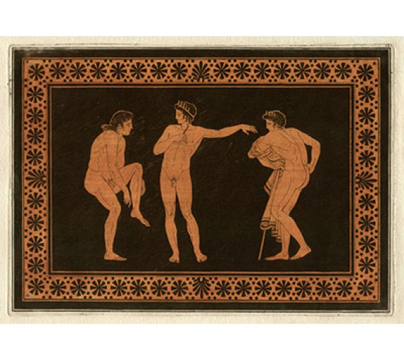 Athletes William Hamilton Greek Vase painting engraving Etruscan
