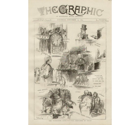 Tichborne Case Further Sketches Court engraving Graphic 1873