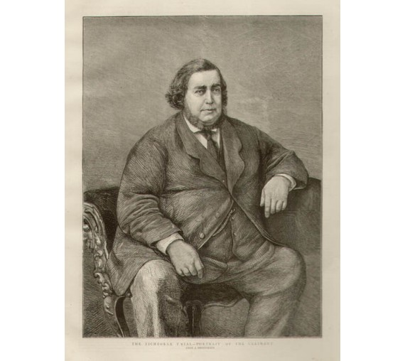 Tichborne Trial Portrait Claimant engraving Graphic 1873