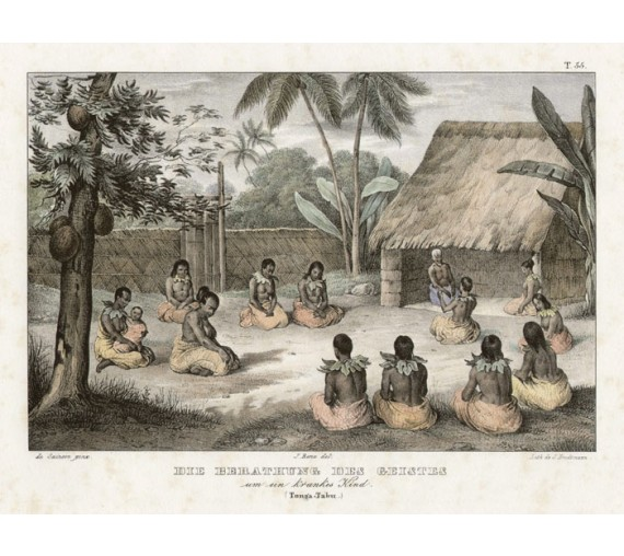 Tonga Brodtmann antique lithograph print
