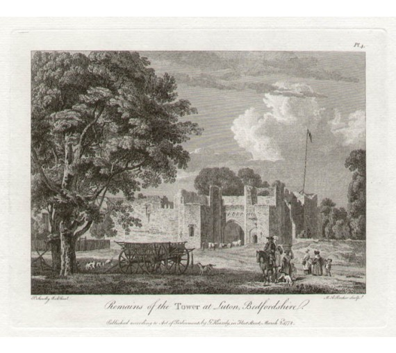 Tower Luton Paul Sandby antique print engraving