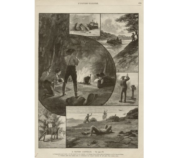 A Travers Australie engraving Naumann
