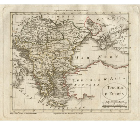 turkey europe antique map barbiellini