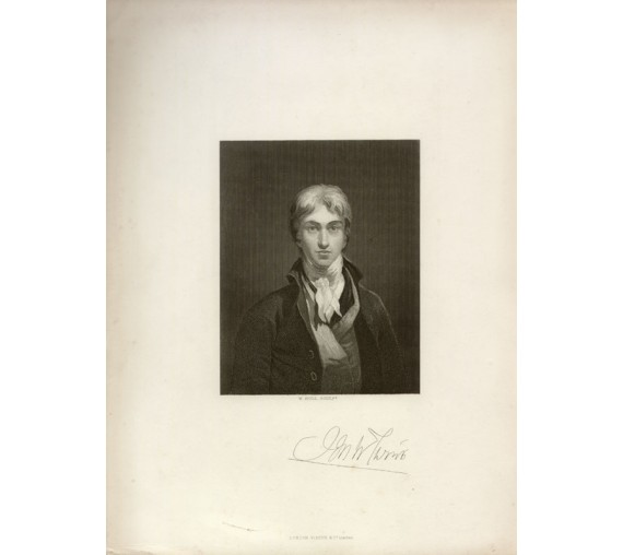 JMW Turner portrait engraving Holl