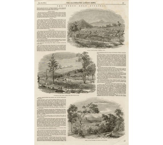 Turon Gold Diggings engraving Illustrated London News 1853