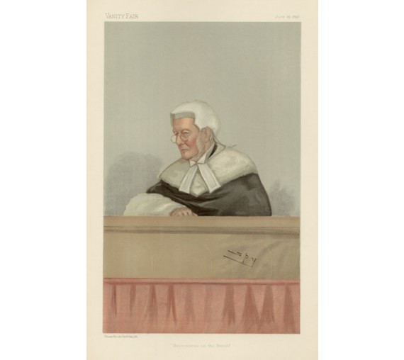 benevolence bench wills vanity fair legal spy chromolthograph
