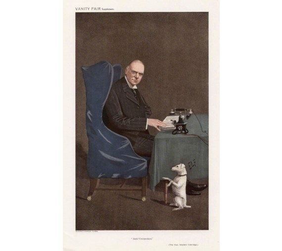 Vanity Fair Anti Vivesection Stephen Coleridge portrait