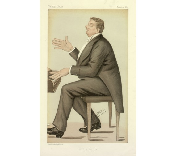 Vanity Fair Corney Grain portrait piano Spy
