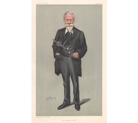 William Crookes Vanity Fair chemist physicist Spy chromolithograph