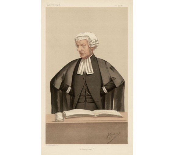 future judge huddleston vanity fair legal spy chromolthograph