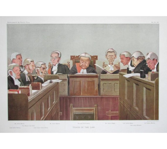 heads law vanity fair legal spy judge chromolthograph