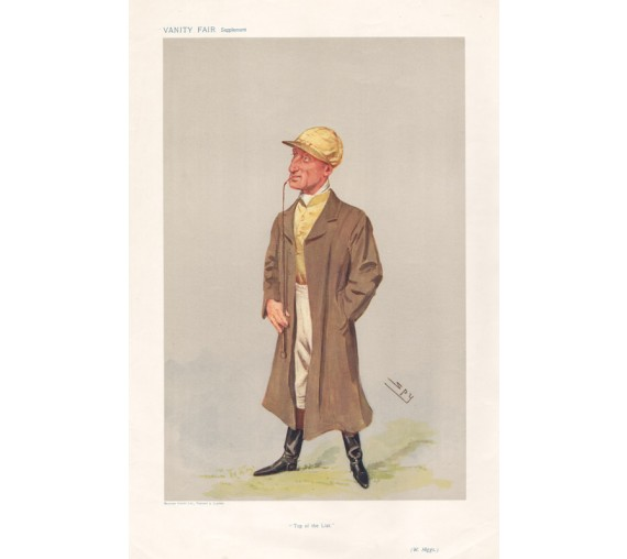 Vanity Fair Jockey William Higgs racing spy horse