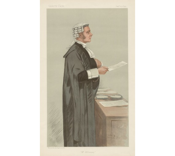 mr attorney reid vanity fair spy judge chromolthograph
