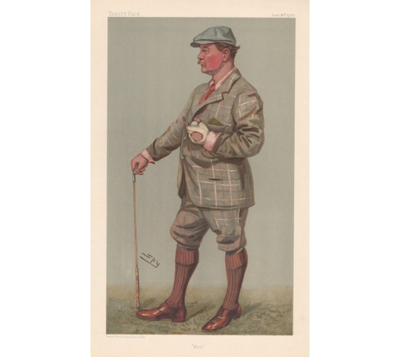Muir Fergusson antique Vanity Fair golf chromolithograph