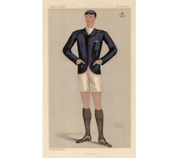 Vanity Fair Rower OUBC antique rowing print Ampthill