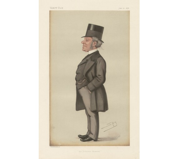 solicitor general halsbury vanity fair lawyer chromolthograph