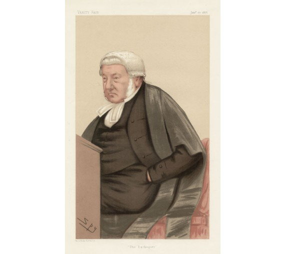 exchequer bramwell vanity fair legal spy judge chromolthograph