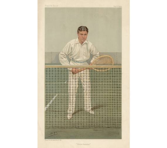 Thrice Champion Vanity Fair tennis chromolithograph spy doherty