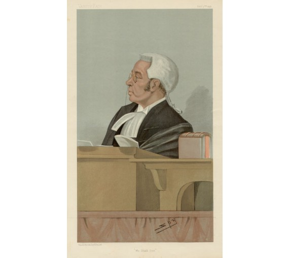 bigham vanity fair legal spy lawyer judge chromolthograph