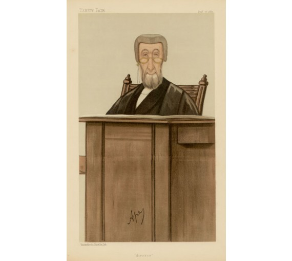 divorce butt vanity fair legal ape lawyer judge chromolthograph