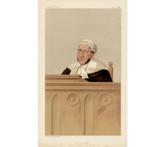new judge charles vanity fair spy judge chromolthograph