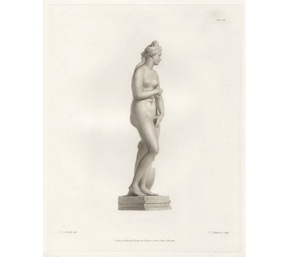 Roman statue sculpture Venus Steel engraving Corbould