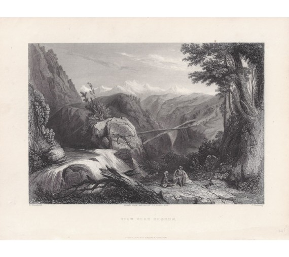 India Deobun Himalayas Stanfield engraving