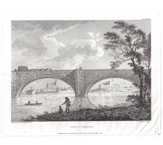 Carlisle Paul Sandby antique print engraving
