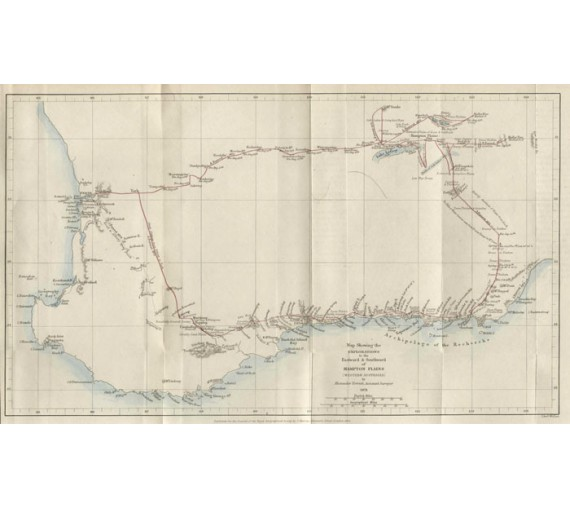 forrest map hampton plains western australia antique map