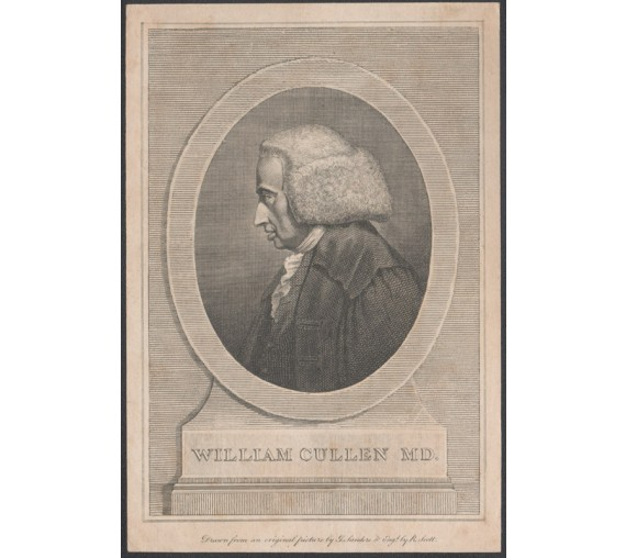 William Cullen portrait engraving doctor physician scottish
