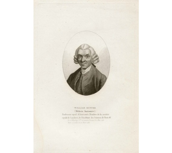William Hunter portrait lithograph medical