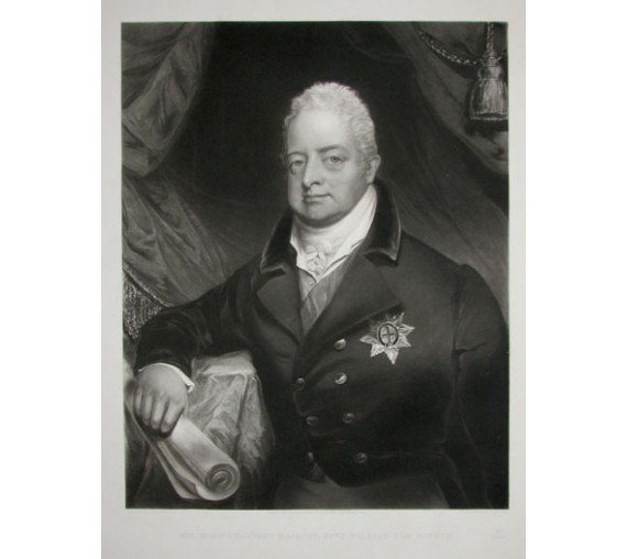 William IV portrait engraving mezzotint Bowyer