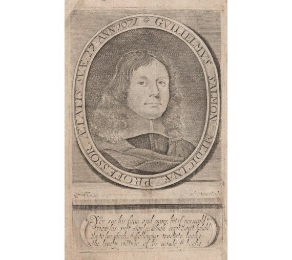 William Salmon portrait engraving doctor physician